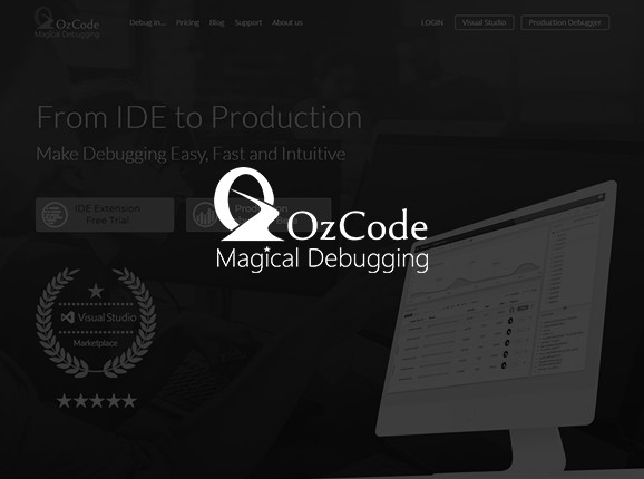 ozcode logo on screenshot backgraund
